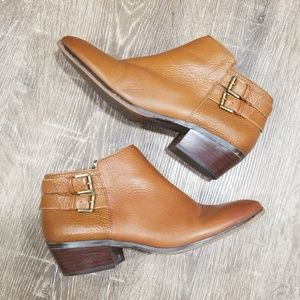 Sam Edelman Petal brown leather ankle booties 8.5